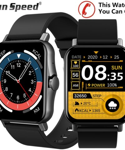 2021 Smart Watch Men Smartwatch Women 1.69 Inch Full Touch Receive/Make Call Heart Rate Monitor Body Temperature Measure Watch
