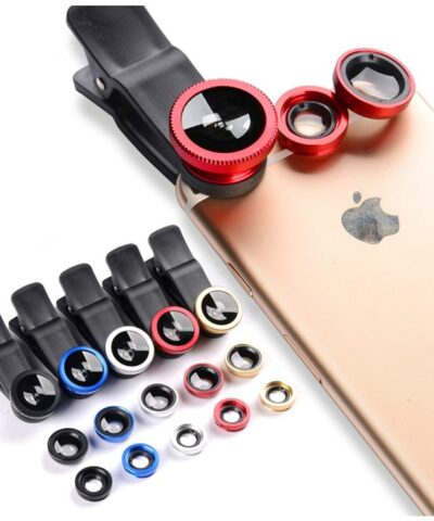 3 in 1 Wide Angle Macro Fisheye Lens Camera Kits Mobile Phone Fish Eye Lenses with Clip 0.67x for iPhone Samsung All Cell Phones