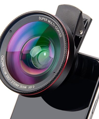 4K HD Super 15X Macro Lens for Smartphone Anti-Distortion 0.45X 0.6X Wide Angle Lens 2 in 1 Mobile Phone Lense Camera Kit