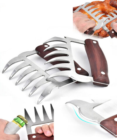 BBQ Accessories Meat Shredder Strong Pulled Pork Puller BBQ Fork Bear Claw Vegetable Slicer Cutters Beer Opener Cooking Tool