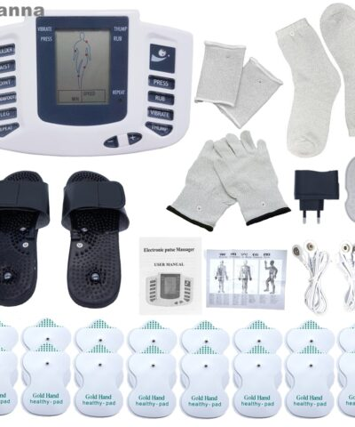 Electric Tens Muscle Stimulator Digital Muscle Therapy Full Body Massage Relax 16pads Pulse Ems Acupuncture Health Care Machine