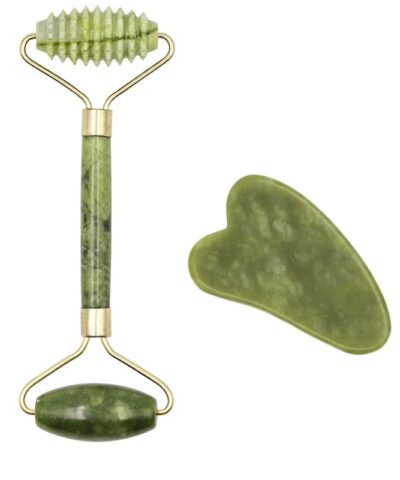 Facial Massage Roller Guasha Board Double Heads Natural Jade Stone Face Lift Body Skin Relaxation Slimming Beauty Neck Thin Lift