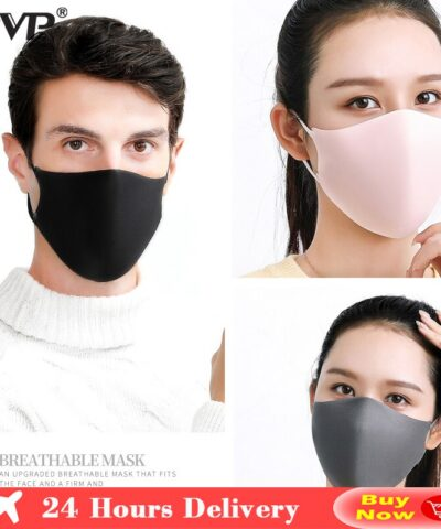 PVP 3Pcs Black Bilayer Sponge Mouth Mask Anti Haze Dust Washable Reusable Double Layer Dustproof Mouth-Muffle Wind Proof Mask