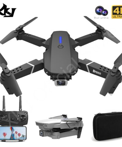 2021 New E88 Pro Drone With Wide Angle HD 4K 1080P Dual Camera Height Hold Wifi RC Foldable Quadcopter Dron Gift Toy
