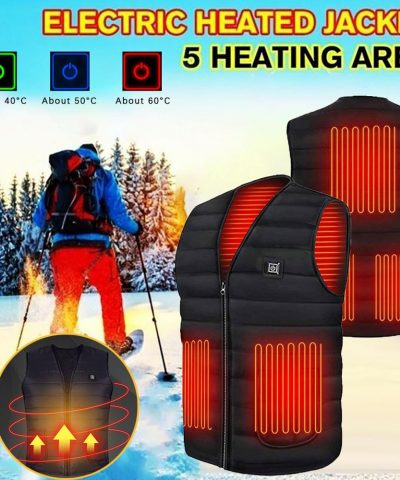 2021 Winter Smart Heating Cotton Vest for Women and Men, USB Infrared Electric Heating Jacket
