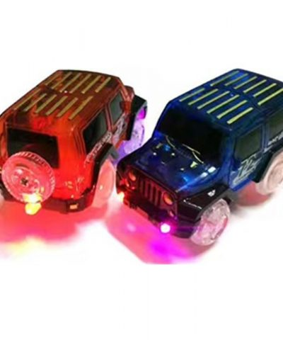 LED light up Cars for Glow Race Track Electronic Car Toy Flashing Kid Railway
